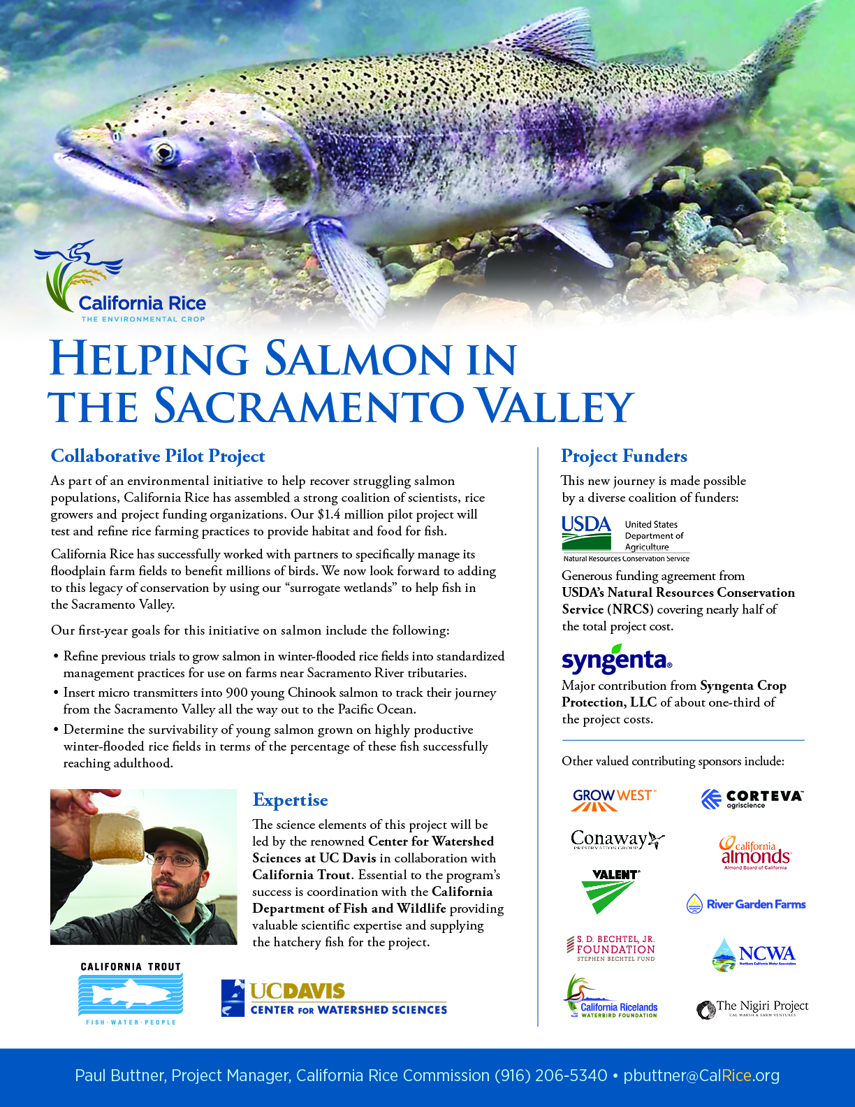 Helping Salmon one-sheet